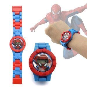 Spiderman Watch Building Blocks Toy Avengers Figur